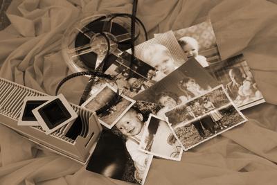 Fotos, Dias und eine Filmrolle