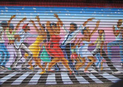 Harlem Tanz Graffiti